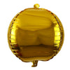 4D Round Foil Mylar Balloon Golden - Funzoop
