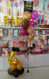 4th Happy Birthday Number Foil Balloons Bouquet Funzoop - The Party Shop