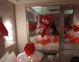 LOVE & Red Heart Foil Balloon Combo Used in Decor
