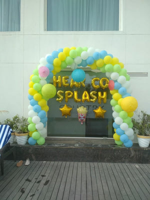Pool Party Decoration Balloons Arch [BA01] - Funzoop