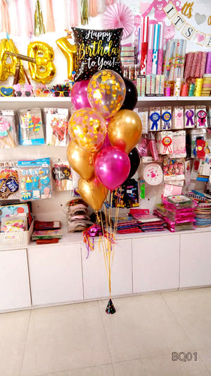 Helium Balloon Bouquet (BQ01) Happy Birthday to You - Funzoop