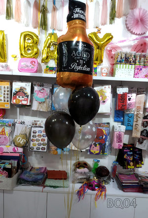 Aged to Perfection Birthday Helium Balloons Bouquet (BQ04) - Funzoop