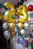 "40"" Large Milestone Number Foil with Chrome Latex Balloons Bouquet (BQ05) - Funzoop"