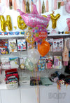 Princess Happy Birthday Crown Helium Foil Bouquet (BQ07) - Funzoop