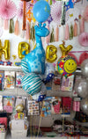 Newborn Baby Boy Arrival Welcome Balloons Bouquet (BQ11) - Funzoop