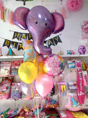 Mother's Day Love You Mom Helium Balloons Bouquet (BQ32) - Funzoop