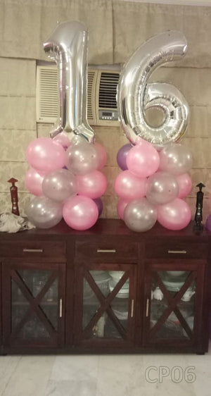 Two Digits Milestone Balloon Columns Centerpiece [CP06] - Funzoop