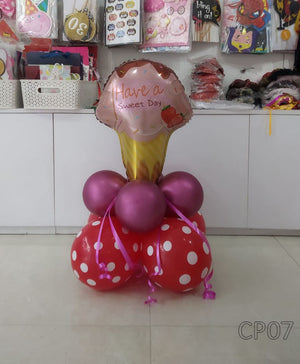 Have a Sweet Day Ice Cream Foil Balloon Centerpiece [CP07] - Funzoop