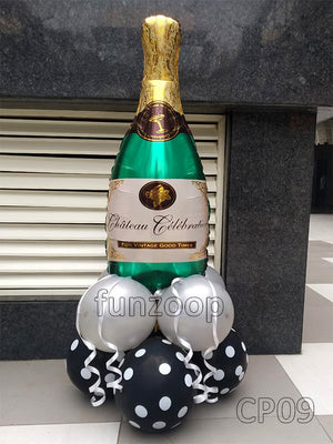 Champagne Bottle Foil Balloon Centerpiece [CP09] - Funzoop