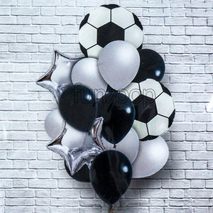 Soccer Theme Balloons Bouquet Set [16 Pcs]  - Funzoop The Party Shop