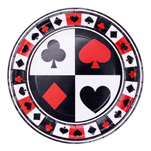 Poker Casino Theme Paper Plates - Funzoop