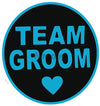Team Groom Round Photo Booth Placard - Funzoop