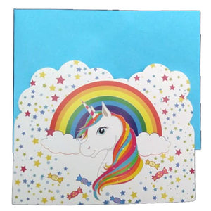 Unicorn Theme Party Invitation Cards [10 Nos] - Funzoop