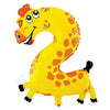 Animal Shaped Number Foil Balloon (Digit 2) - Funzoop