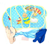 Baby Boy Banner & Printed Balloons Wall Decor Flags - Funzoop