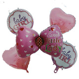 Baby Girl Arrival 5 in 1 Foil  Balloons Bouquet Set [5 Pcs] - Funzoop