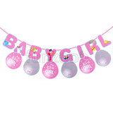 Baby Girl Banner & Printed Balloons Wall Decor - Funzoop