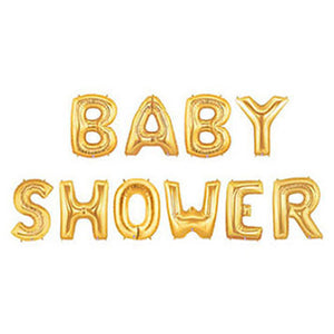 BABY SHOWER Foil Banner with Tassels - Gold - Funzoop