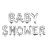 BABY SHOWER Foil Banner with Tassels - Silver - Funzoop