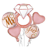 Bachelorette /Bridal Shower 5 in 1 Foil Balloons Bouquet Set [5 Pcs] - Funzoop