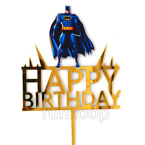 Batman Theme Birthday Cake Topper - Funzoop