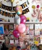 Birthday Sprinkles Helium Balloons Bouquet (BQ18) with Fabulous Print - Funzoop The Party Shop