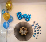 BOY Letters Foil Balloon (Blue) - Wall Arrangement - Funzoop