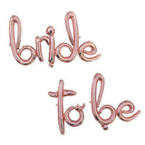 BRIDE TO BE Foil Banner [Golden/ Silver/ Rose Gold]