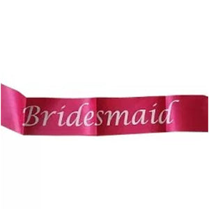 Bridesmaid Satin Sash - Pink - Funzoop
