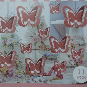 Butterfly Hanging Swirls Decoration Set - Funzoop