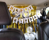 Car Decor [MD03] Curtains White Banner - Funzoop The Party Shop