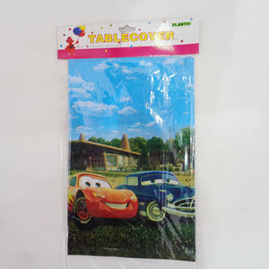 Car Theme Plastic Table Cover - Funzoop