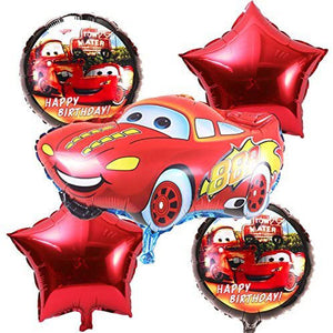 Cars 5 in 1 Foil Balloons Bouquet Set [5 Pcs] - Funzoop The Party Shop