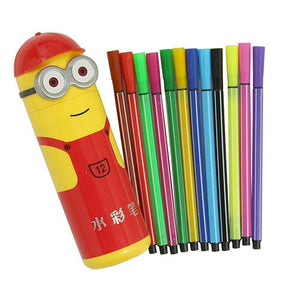 Cartoon Themed Sketch Pen Set [12 Pens] - Funzoop