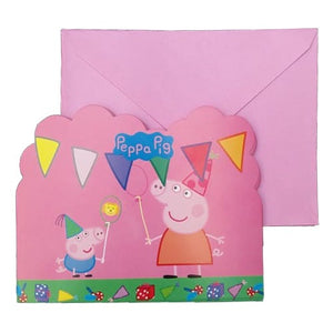 Peppa Pig Theme Invitation Cards [10 Nos] - Funzoop