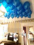 Ceiling Decor Metallic Latex Balloons Bunch Blue Funzoop ThePartyShop