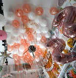 Ceiling Decor Metallic Latex Balloons Bunch  - 10 Helium Inflated Balloons [BN06] - White Rose Gold - Funzoop The Party Shop