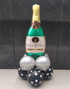 Celebrate Champagne Large Bottle Shaped Foil Balloon In Use - Funzoop