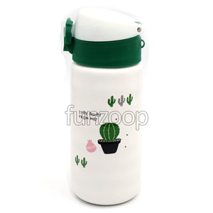 Ceramic Printed Sipper Water Bottle Lid Closed - Funzoop The Party Shop