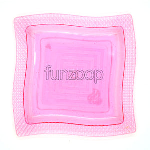 Chaat /Snack /Appetizer Acrylic Square Plate - Funzoop The Party Shop