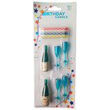 Champagne Shaped Party Candle Set - Funzoop