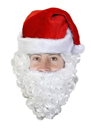 Christmas Santa Hat with Beard - Funzoop
