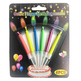 Colored Flame Cake Candles Set - Funzoop