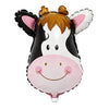 Cute Cow Face Shaped Jungle Theme Foil Balloon - Funzoop The Party Shop