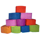 Colorful Chevron Paper Streamers [12 Pcs] - Funzoop