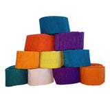 Crepe Solid Color Paper Streamer (12 Rolls) - Funzoop