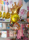 Crown Pizza Sunflower Balloons Bouquet Helium Inflated - Funzoop