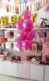 "10"" Metallic Latex Helium Inflated Balloons Dark Pink Bunch - Funzoop The Party Shop"
