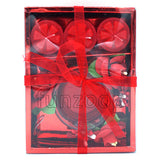 Decorative Candles Gift Set Opened Top View - Funzoop