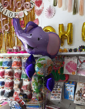 Dumbo Elephant 5 in 1 Foil Balloons Bouquet Set [5 Pcs] Helium Inflated Funzoop The Party Shop